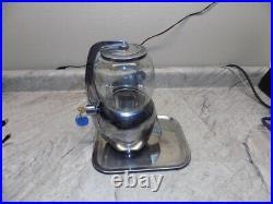 Vintage Atlas Bantam Nickel Coin Operated Peanut Vending Machine Works withKey GC1