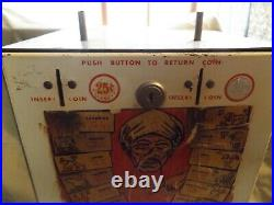 Vintage Coin Op LUCKY HOROSCOPE Vending Machine 10 & 25 Cents Birthday Reading