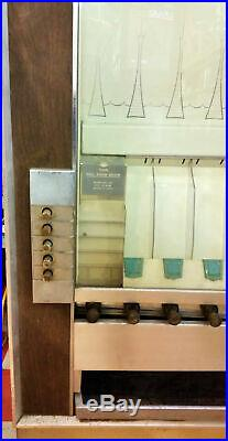 Vintage Coin Operated Candy Vending Machine National Series Crown CC Deluxe