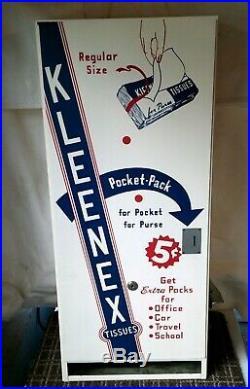 Vintage Kleenex Tissue Coin-Op Vending Machine Original Box. 5 cents NOS