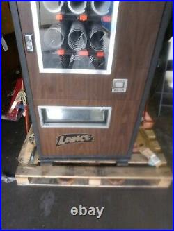 Vintage Lance coin opp snack vending machine snack candy 15 selection