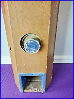 Vintage NATIONAL KING National Advanced Vending Co 5 Cent Candy Machine Coin Op