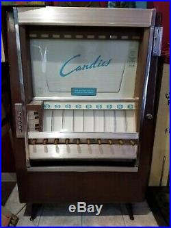 Vintage National Candy Vending Machine Gum Lifesaver Bar Coin Operated