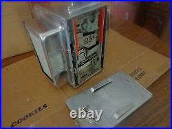 Vintage Perfume Napkin Holder Coin Op With Key (nice Chrome!)