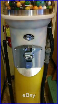 Vintage Shell 7 Tall Replica Coin Operated 1930s Gas Pump Gum Ball Machine