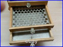 Vintage wood coin sorter money dîmes casino