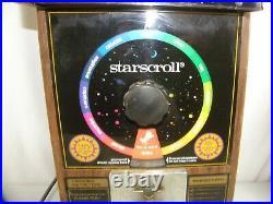 Vtg 1970's Starscroll Coin Operated Astrological Horoscope Vending Machine