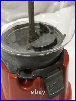 Vtg Northwestern Model 33 1c Gumball Candy Machine Working w Key Coin Operated