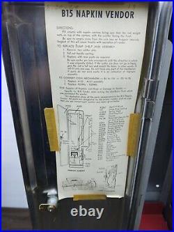 Vtg Vending Machine Kotex Feminine Sanitary Napkin Dispenser Coin 5¢ Key 1960s
