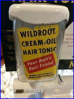 Wildroot Cream oil Hair-Tonic 5 cent coin operated dispenser