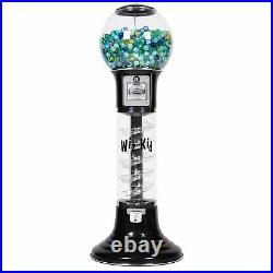 Wiz-Kid Spiral Gumball Machine, Black, Blue Track Color, 25 Cents Coin Mech