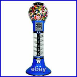 Wiz-Kid Spiral Gumball Machine, Blue, Blue Track Color, 25 Cents Coin Mech