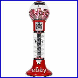 Wiz-Kid Spiral Gumball Machine, Red, Clear Track Color, 25 Cents Coin Mech