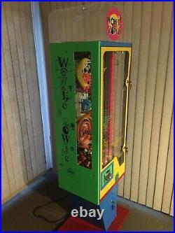 Wowie Zowie Coin Op Gumball Machine Vending Machine Arcade Pinball Fully Working